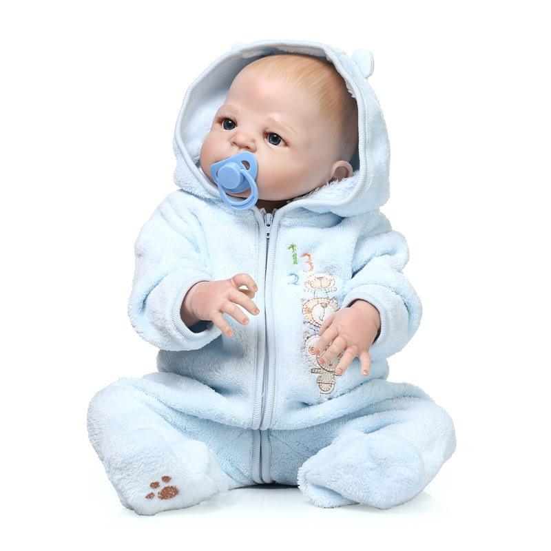 Soft Full Silicone Body ᐂ Newborn Newborn Bebe Doll