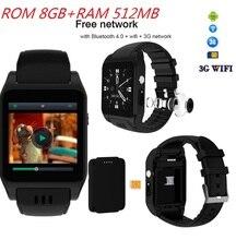 WI-FI inteligente Relógio com 512 MB/4 GB 8 GB Suporte Internet download APP Bluetooth 4.0 Smartwatch 3G w/camera Chamada Telefônica Do Cartão SIM