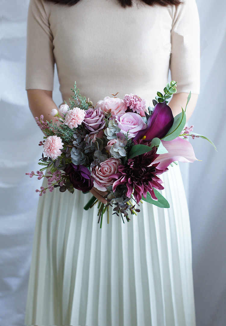 Janevini Vintage Artificial Wedding Bouquets For Bridesmaids