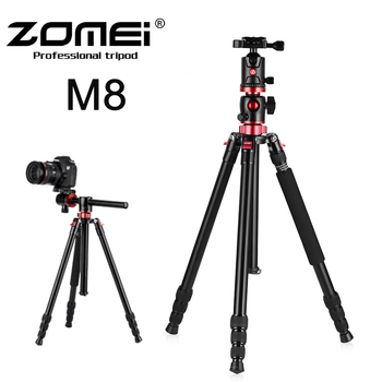 Zomei M8 Professional Camera tripod Monopod Portable Compact Travel Horizontal System Aluminium Tripod for Canon Nikon Sony SLR zomei camera tripod portable portable professioional aluminium monopod 4 sections tripods with 360 degree ball head for dv dslr