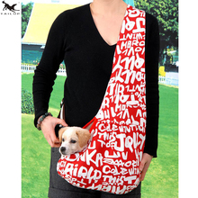 TAILUP Slings Pets Dog Carrier Bag Pets Shoulder Relax Bag Tote Oxford Sling Backpack for Small Dogs Cats Pets Supplier PP010red