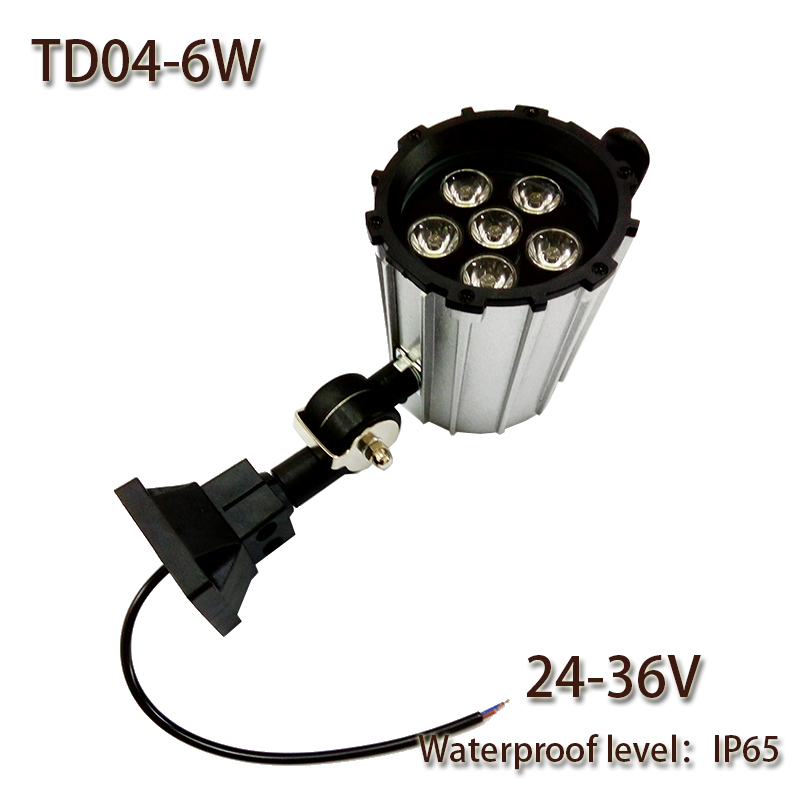 Work Light Total Tools: HNTD 6W DC24V/36V LED Short Arm Fold Waterproof Work Light