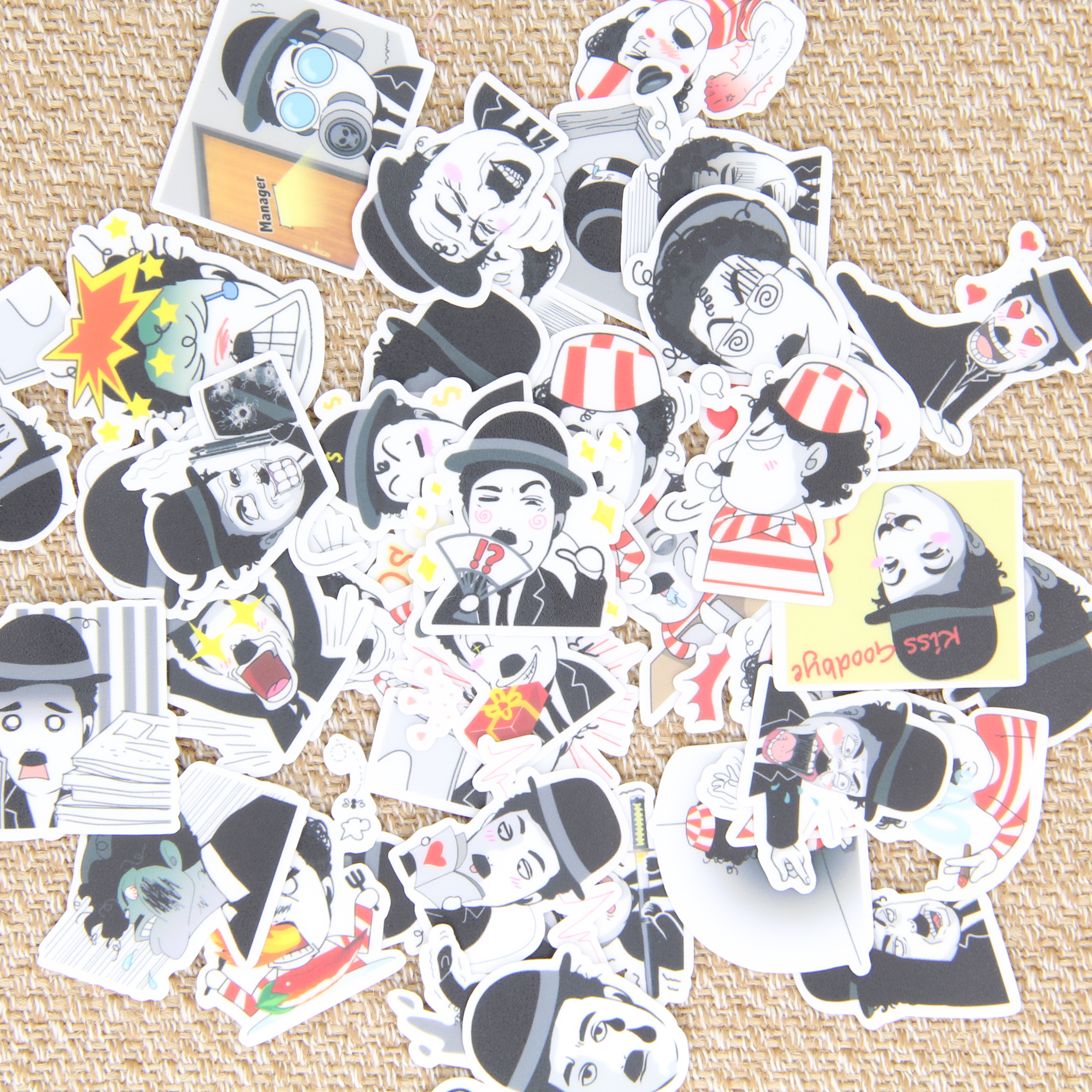 40pcs Self-made Cool Man Crazy Men Scrapbooking Stickers Decorative Sticker DIY Craft Photo Albums Decals Diary Deco