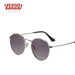 Image 4 - 20/20 Brand New Unisex Occhiali Da Sole Da Uomo Lenti Polarizzate Vintage Rotondo di Metallo Accessori di Eyewear Occhiali Da Sole per Le Donne 17018 1