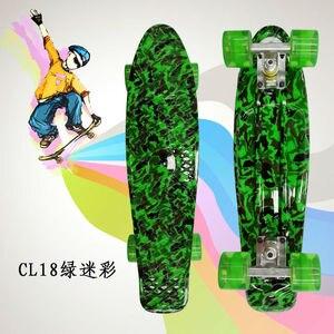 "Image 4 - Complete Peny Board 22"" Colorful Plastic Skateboard Boy Girl Mini Long Board Skate 6Types Available"