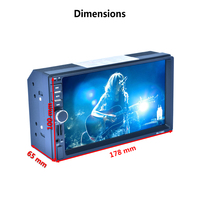 7156G 7inch GPS Navigation Two Din Car Radio MP5 Player With MAP Bluetooth AM FM RDS
