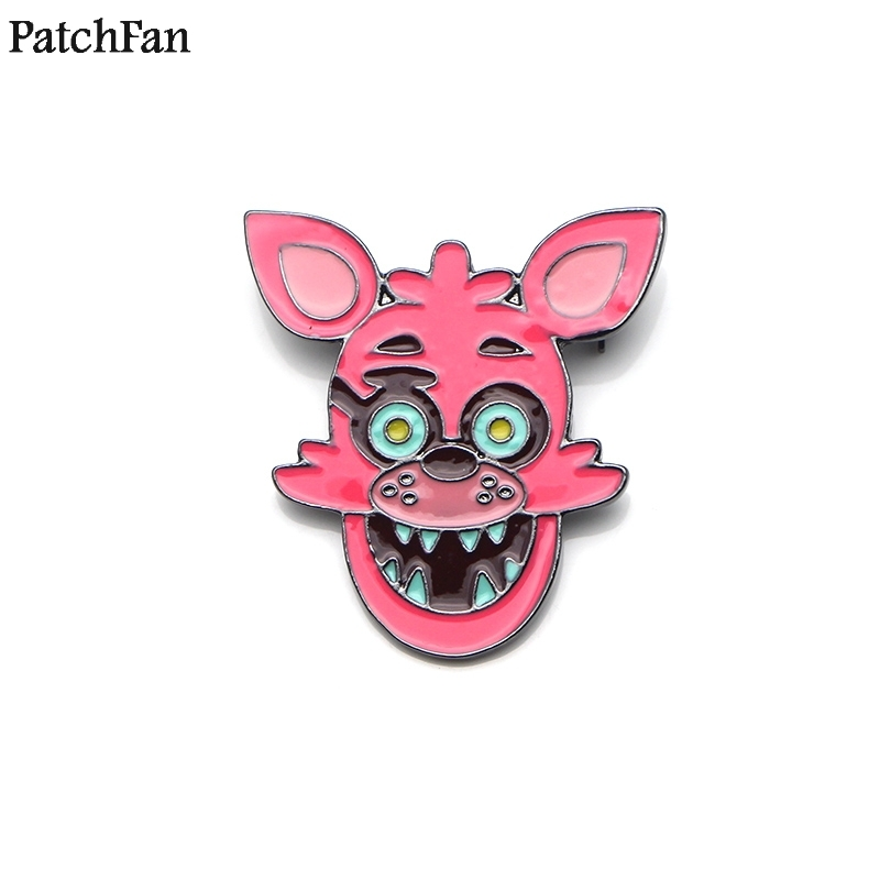 Dedicated 20pcs/lot Patchfan Five Nights At Freddy Zinc Cartoon Pins Backpack Clothes Brooches For Men Women Hat Decoration Badges A1522 To Ensure Smooth Transmission Apparel Sewing & Fabric Home & Garden