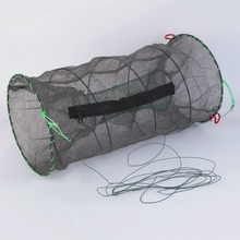 Free Shipping 2 Size Available Foldable Fishing Net Lobster Shrimp Crab Crayfish Mesh Bait Trap Catcher