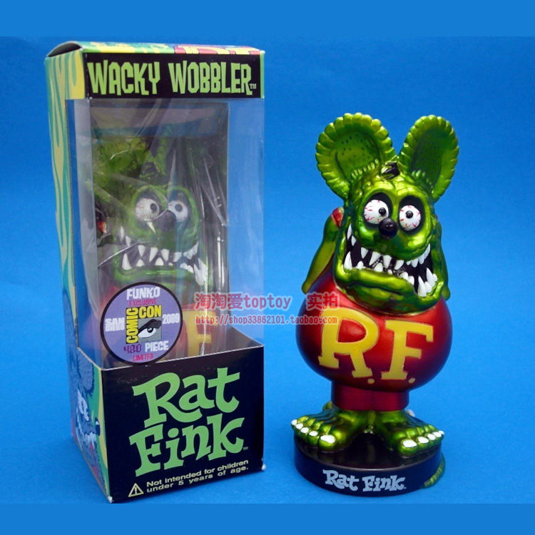 America Classic Cartoon Image Tales of the Rat Fink Resin Action Figure  christmas gift funko tales of the rat fink wacky wobbler bobble head pvc action figure toy 8 colors