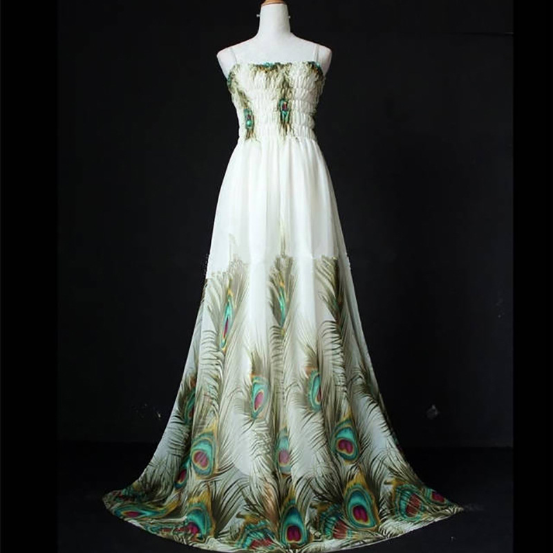 Popular Peacock Maxi Dress-Buy Cheap Peacock Maxi Dress lots from ...
