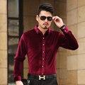 2016 ISMEN мужская рубашка с длинным рукавом хлопок мужской бизнес свободного покроя печатных мода формальные рубашки тонкий Masculina Camisa