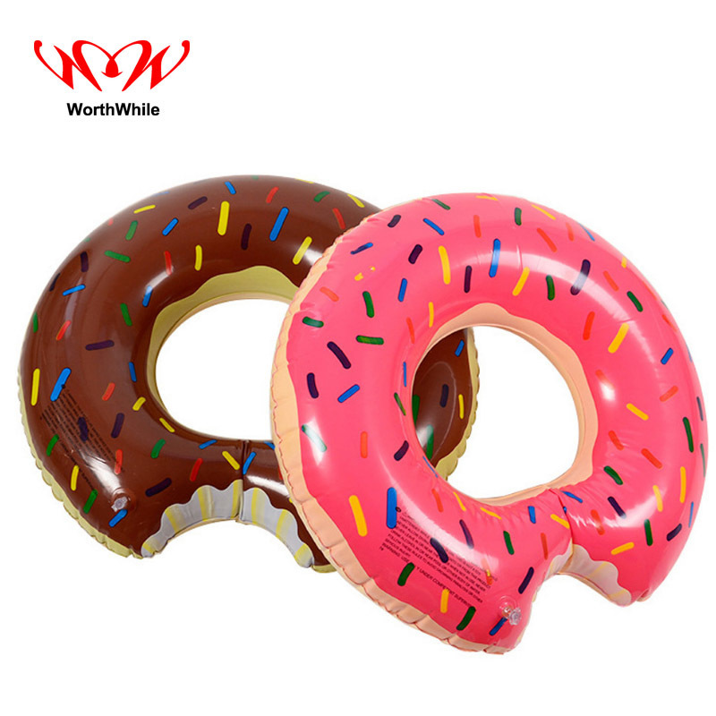 WorthWhile Inflatable Donut Shape Swimming Ring for Outdoor Camping Swimming Fishing Boating Pool Floathing Adults First Aid Kit
