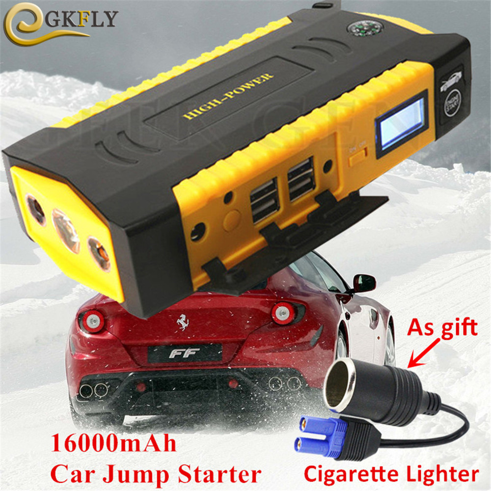 Multi Function Car Jump Starter 12V 600A Starting Device 4USB Power Bank Portable Car Battery Booster