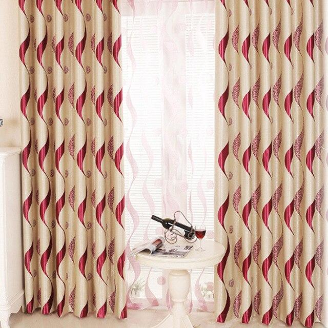 ZHH Morden Luxus Welle Streifen Vorhang Für Wohnzimmer/schlafzimmer Set  Gardinen Sonnenschutz Stoff Cortinas Vorhang