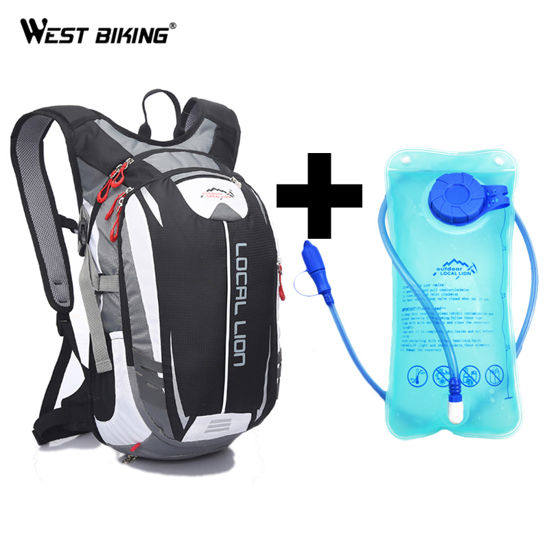 LOCAL LION 18L Soprt Bag+ 2L TPU Water Bag Backpack Bag Rucksack MTB Road Bike Bicycle Running Sport Hiking Bladder Backpacks roswheel mtb bike bag 10l full waterproof bicycle saddle bag mountain bike rear seat bag cycling tail bag bicycle accessories