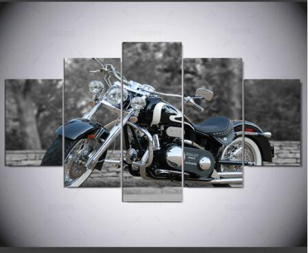 5 Panels Traffic Decorative Print Painting On Canvas Motorcycle Wall Art  Picture Home Decoration Accessories In Painting U0026 Calligraphy From Home U0026  Garden On ...