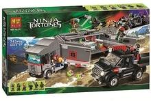 Bela 10277 Ninja Tortoise Large Truck Snow Fled Minifigures Building Block Minifigure Toys Compatible with Legoe