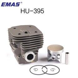 EMAS wysokiej jakości 56 MM duży CYLINDER tłok do HUSQVARNA CHAINSAW 395 395XP 395EPA silnika 503993971 najlepsza sprzedaż w stany zjednoczone w wielkiej brytanii