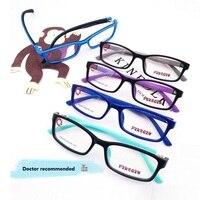 50-16-130 La nueva gama alta de los niños adolescentes marco TR90 marco ojo de la marca de silicona suave marco miopía 2274 niños marco de anteojos