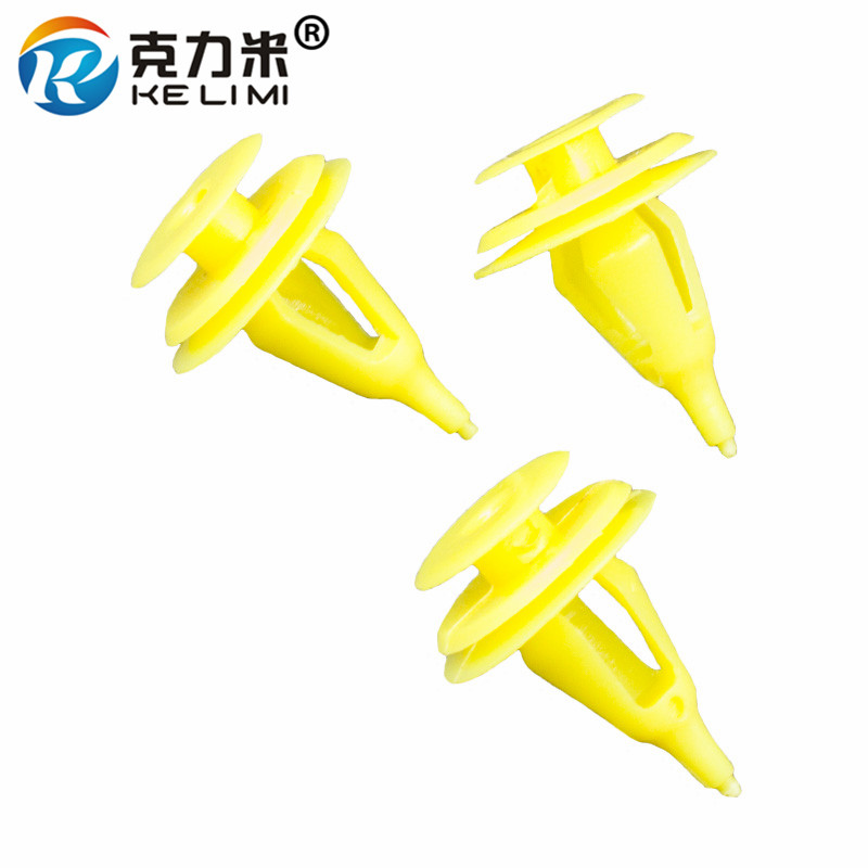 KE LI MI Car Yellow Plastic Rivet For Toyota Door Panel Snaps 100 Pieces Automobile Garnish retainers trim clips