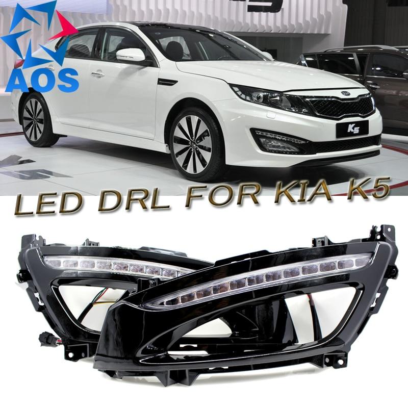 2PCs/set 6000K LED DRL waterproof Daylight Daytime Running lights For KIA K5 Optima 2012 2013 2014 2015 стоимость