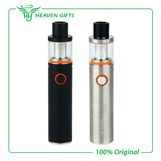 100% original smok pluma vape starter kit 22 construir en 1650 mah batería con 0.4ohm vapepen 22 Kit de Doble Núcleo y el Indicador LED