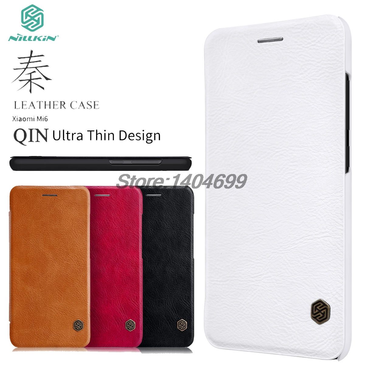 Xiaomi Mi6 Case Nillkin Qin Series PU Leather Cover Flip Case For Xiaomi Mi6 M6Xiaomi Mi6 Case Nillkin Qin Series PU Leather Cover Flip Case For Xiaomi Mi6 M6