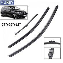 """Xukey 2""""+ 20""""+ 1"""" для леворульных автомобилей стеклоочистители ветрового стекла для BMW X3 F25 2010 2011 2012 2013 спереди Защита от солнца на заднее стекло"""