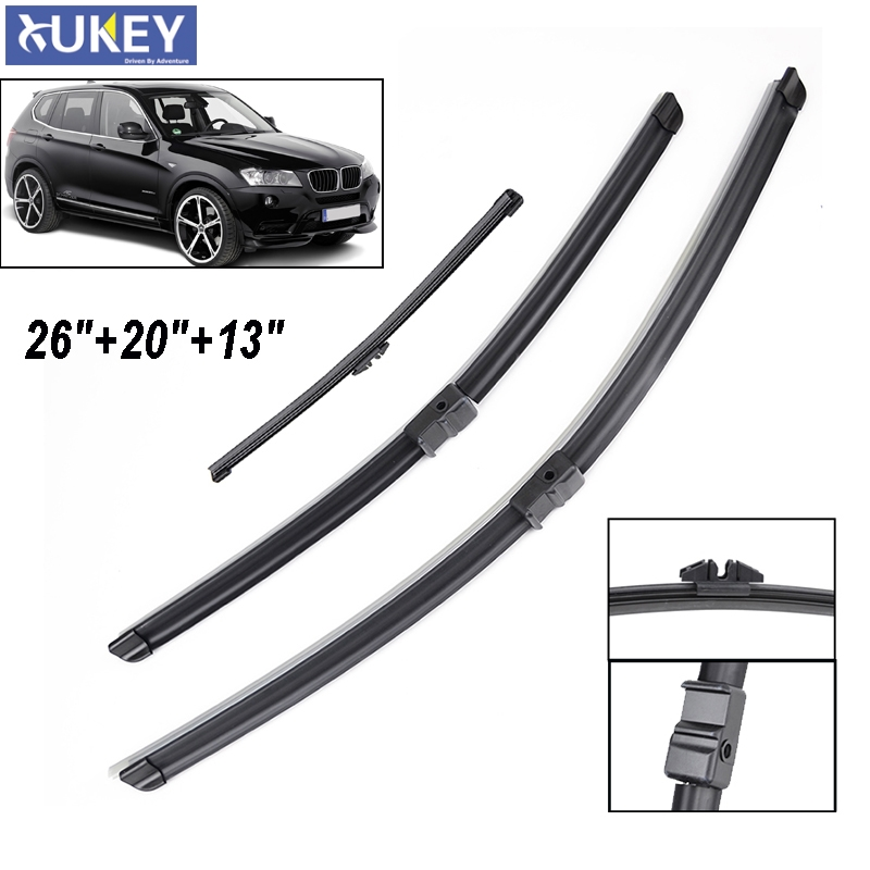 2014--/> Wiper Blade Complete Set X3 Front Rear Skoda Fabia Estate