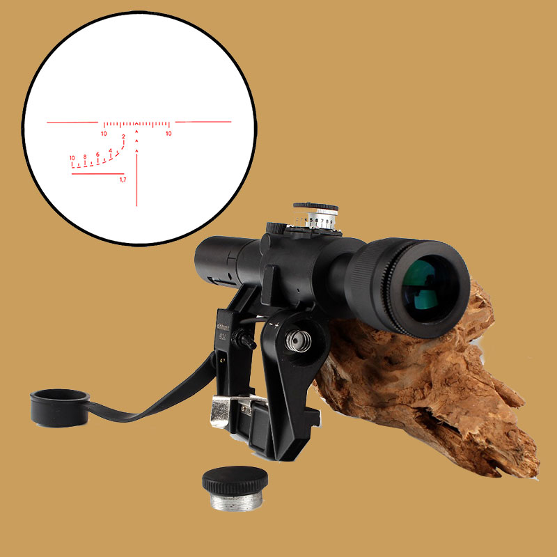 Tactical Hunting Red Illuminated 4x24 PSO-1 Type Riflescope for Dragonov SVD Sniper Rifle Series AK Rifle Scope red illuminated 4x24 pso 1 type scope for dragonov svd sniper rifle series ak riflescope hunting trail rifle scopes