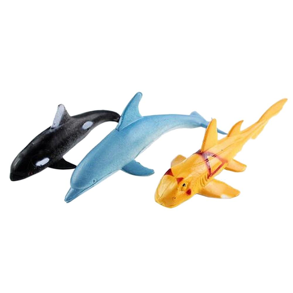 12 pcs Mini Tropical Ocean Fish Toy Gift Sea Life Model Pool Education Toy 3C