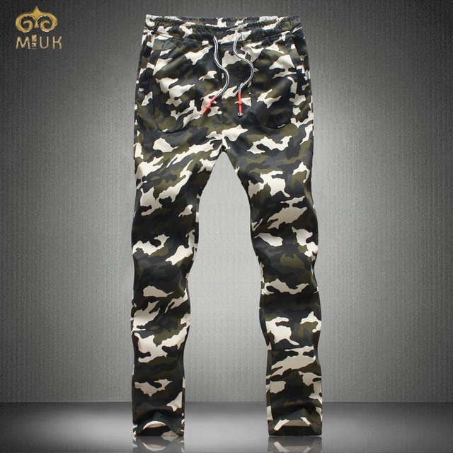 MIUK Large Size Camouflage Joggers 40 38 Cotton Pantalon Homme Brand Clothing Army Military Long Pants 2017 New Spring Autumn