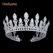 Hadiyana роскошные свадебные аксессуары для волос, корона с Zrconia и кристаллами, модные ювелирные изделия, большая корона диадемы для женщин BC3436