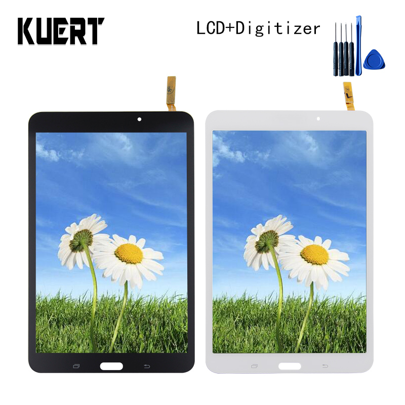 Panel LCD Combo Touch Screen Digitizer Glass LCD Display Assembly  For Samsung Galaxy Tab 4 SM-T330NU  Accessories Parts Tool for samsung galaxy mega 5 8 i9150 i9152 lcd display with touch screen digitizer assembly by free shipping