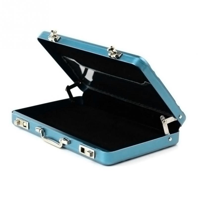 Mini Card Holder Suitcase Shaped Design Aluminum Credit Card Holder ...