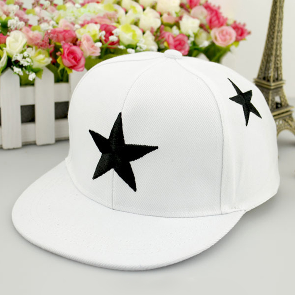 Baseball-Cap Sun-Hat Embroidery Snap Back Star Hip-Hop Wide-Brim Girls Outdoor Boys Kids