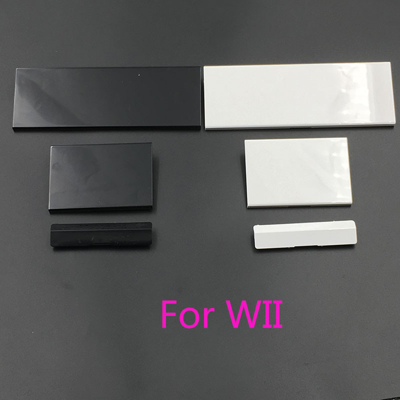 White Black Plastic 3 In 1 Replacement Plastic Door Slot Covers For Nintendo Wii Console