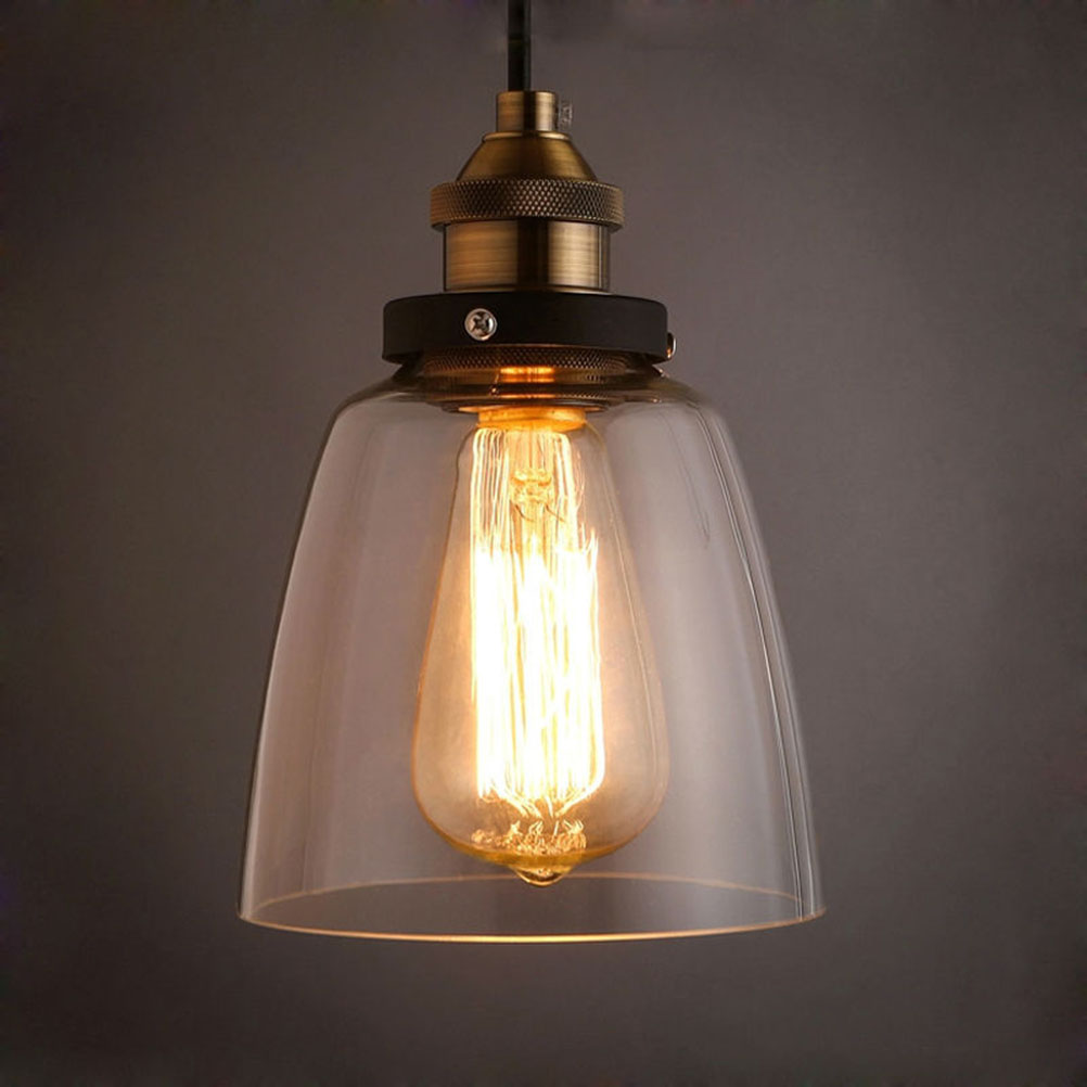 Details about e27 type plug in hanging pendant light fixture lamp bulb - Retro Lamps Glass Pendant Lamps Vintage Hanging Light American Loft Style Bar Restaurants Lighting Fixture
