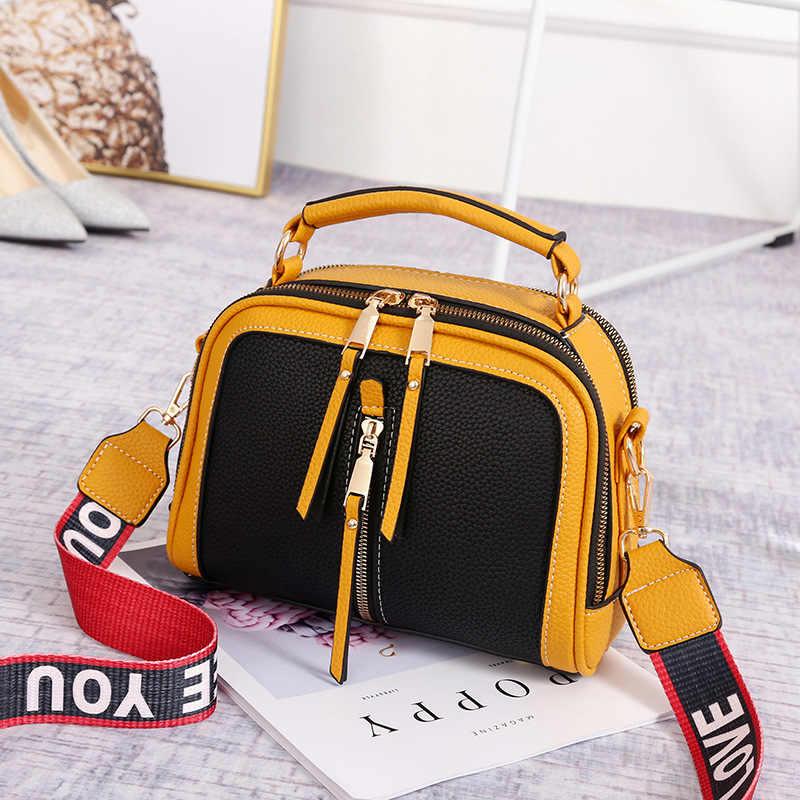 Las mujeres bolsos de mensajero con solapa Bolsa femenina, las mujeres hombro Bolsa mujer Causal bolsas bolsos de lujo nuevo diseño bolsos