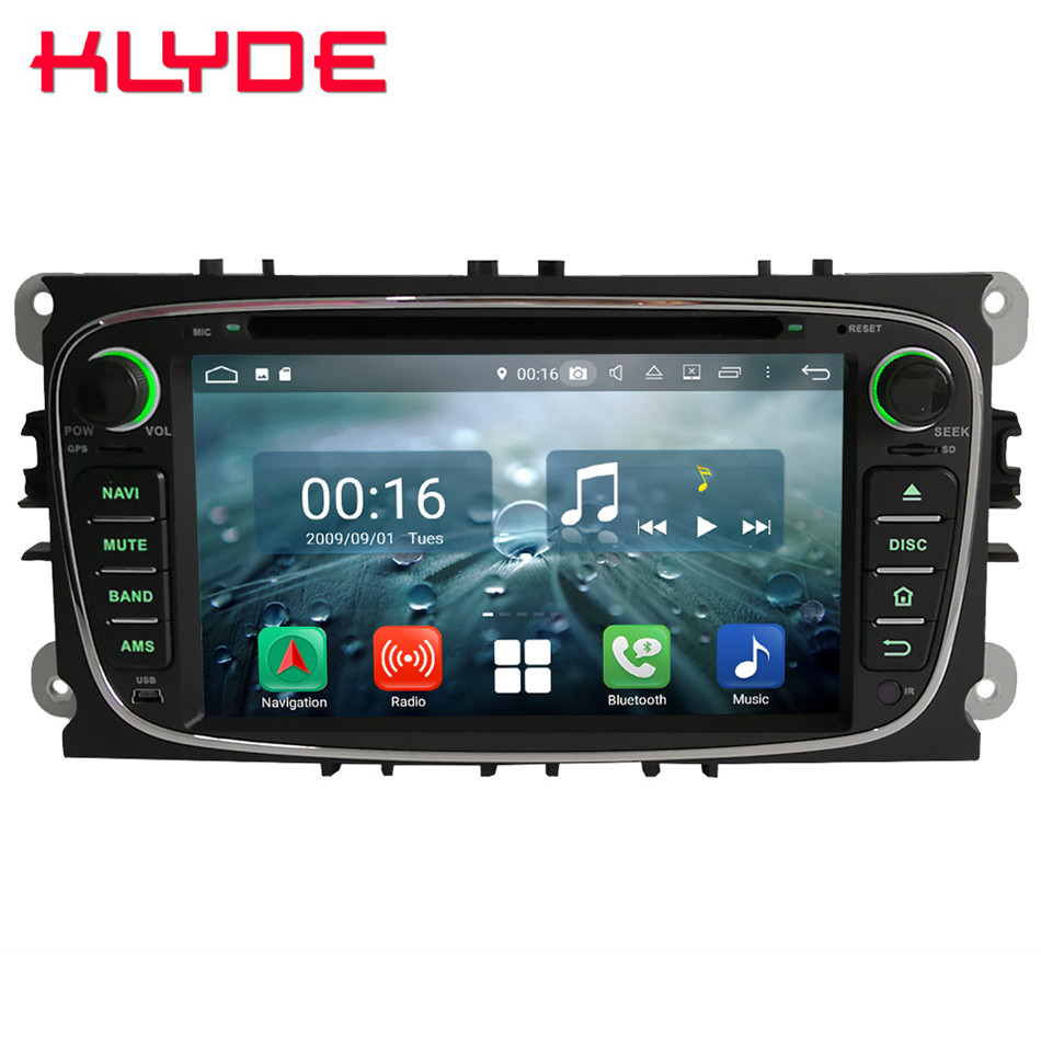 Octa Core 4G Android 8.1 4GB RAM 64GB ROM Car DVD Multimedia Player Radio Stereo For Ford Kuga Focus S-Max C-Max Galaxy Mondeo