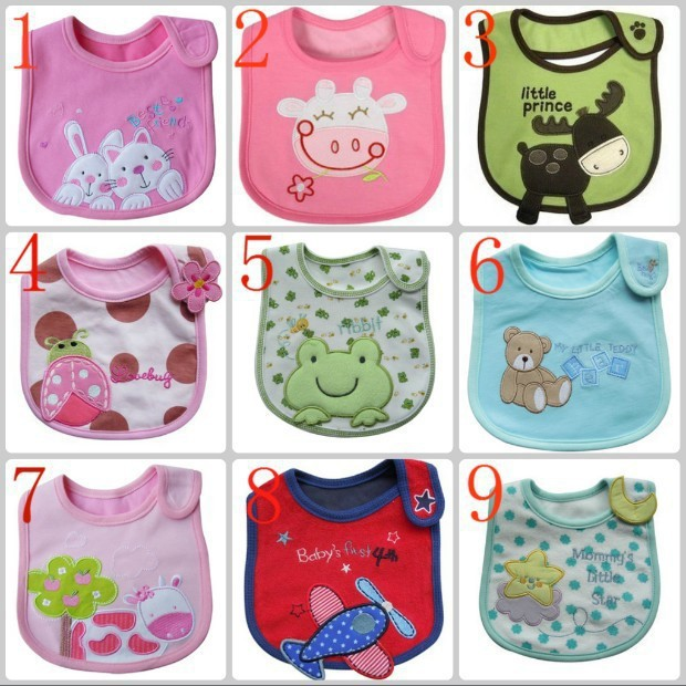 2015 Free Shipping New Born Baby Burp Cloths Various Pattern White Bibs Cotton Waterproof For Newborn Boy Girl Things In From