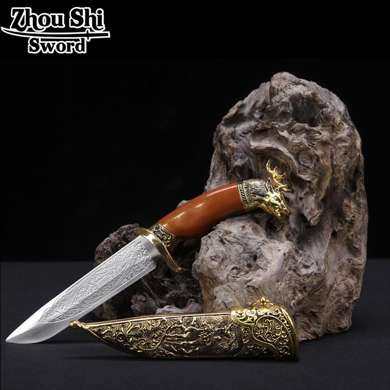 Classic dagger decorated little swords and deer head pattern beautiful stainless steel sword Cosplay Props gift