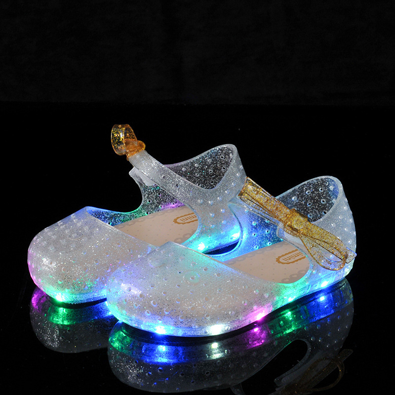 Summer Girls LED Sandals Crystal Shoes Girl Jelly Sandals Children Sandals Baby Jelly Shoes Bow-knot Girls Glowing Luminous ShoeSummer Girls LED Sandals Crystal Shoes Girl Jelly Sandals Children Sandals Baby Jelly Shoes Bow-knot Girls Glowing Luminous Shoe