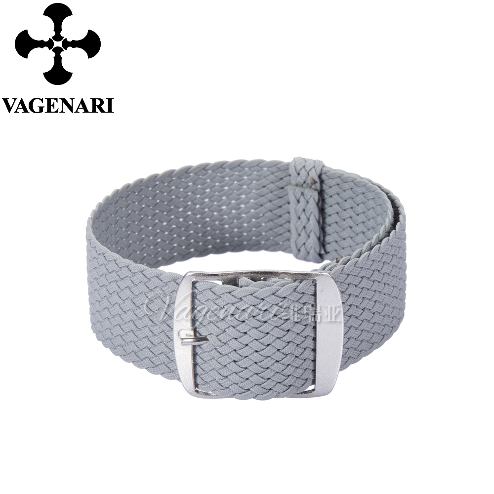 Fashion Light Grey Perlon Strap 20mm Braided Watch Strap Watchband free shipping wholesale black brown perlon strap braided watch strap 20mm watchband with buckle