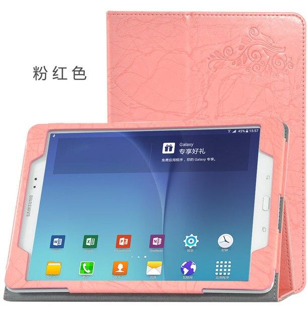 Для Samsung T555 Ultra Slim Flip Стенд Печати Цветок Кожа Защитная Крышка Для Samsung GALAXY Tab5 SM-T555 tablet PC случае