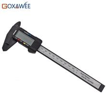 GOXAWEE 150mm 6inch Digital Electronic Carbon Fiber Vernier Calipers LCD Plastic Caliper Gauge Micrometer Ruler Measuring Tools