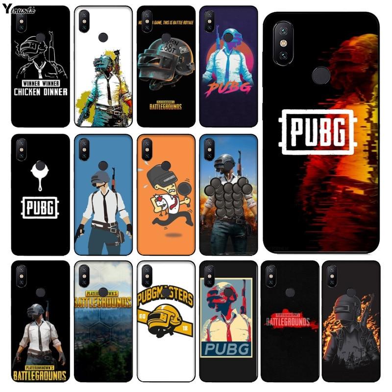 Yinuoda pubg batterground game Customer High Quality Phone Case for xiaomi mi 6  8 se note2 3 mix2 redmi 5 5plus note 4