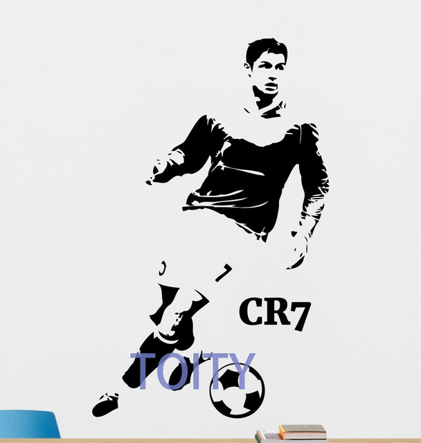 Cristiano ronaldo wall decal football vinyl sticker soccer cr7 decor cristiano ronaldo wall decal football vinyl sticker soccer cr7 decor mural h88cm x w55cm voltagebd Choice Image