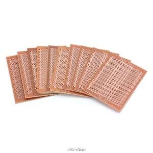 Image 1 - Placa protectora de circuito matricial, 10 Uds., 5x7cm, bricolaje, prototipo de papel, PCB, experimento Universal
