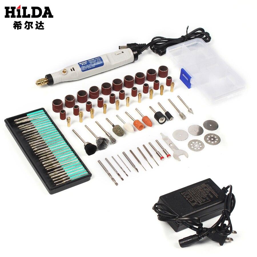 HILDA 18 v Gravura Caneta Mini Broca ferramenta Rotary Com Acessórios Set Multifunções Mini Caneta Gravura de Moagem Para ferramentas Dremel